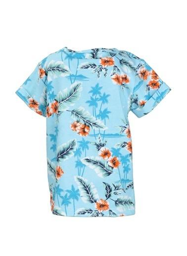 Mininio Mavi Hawaii T-Shirt (9ay-4yaş) Mavi Hawaii T-Shirt (9ay-4yaş) Mavi